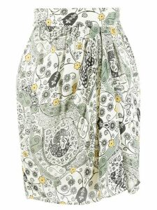 Isabel Marant Étoile floral-print draped shirt - NEUTRALS