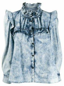 Isabel Marant Étoile ruffled denim shirt - Blue