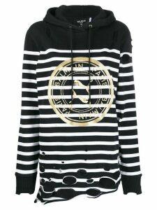 Puma x Balmain striped hoodie - Black