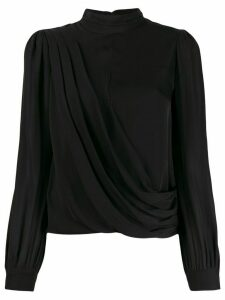 Michael Michael Kors asymmetric draped blouse - Black
