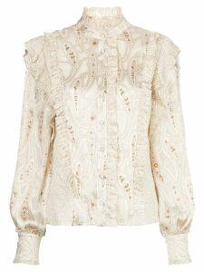 Alexis Eline ruffled blouse - NEUTRALS