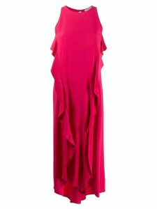 Twin-Set ruffled asymmetric maxi dress - PINK