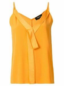 Paule Ka V-neck bow detail camisole - Yellow