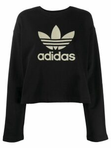 adidas logo long-sleeve sweatshirt - Black