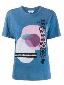 Isabel Marant Étoile graphic jersey T-shirt - Blue
