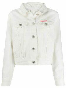 pushBUTTON slim-fit denim jacket - White