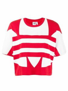 adidas large logo short-sleeve top - Red