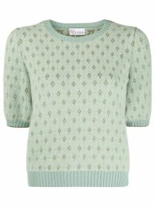 RedValentino jacquard knitted top - Green