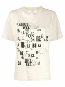 Isabel Marant Étoile Rebellion jersey T-shirt - NEUTRALS