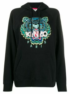 Kenzo Tiger embroidered logo hooded sweatshirt - Black