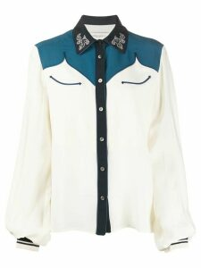 Golden Goose embellished collar western shirt - NEUTRALS