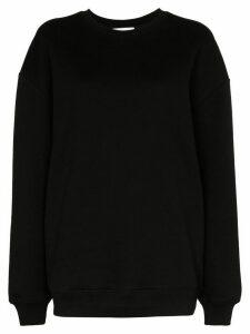 Ninety Percent oversized long-sleeve sweatshirt - Black