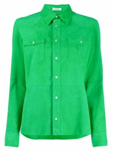 P.A.R.O.S.H. suede chest pocket shirt - Green