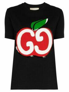 Gucci GG Apple logo T-shirt - Black