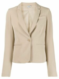 LIU JO tailored single-breasted blazer - NEUTRALS