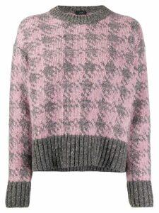 Joseph Houndstooth knit jumper - PINK