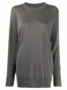 Mm6 Maison Margiela stitch detail jumper - Grey