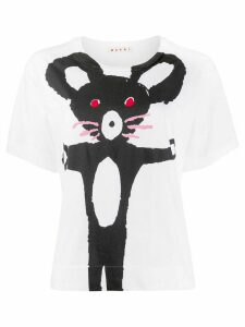 Marni mouse print T-shirt - White