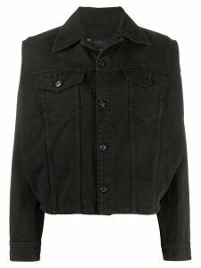 Mm6 Maison Margiela side slit denim jacket - Black