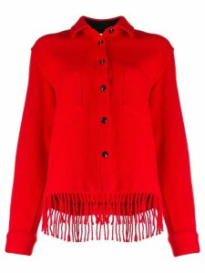 Woolrich fringed fitted jacket - Red