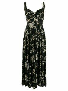 Norma Kamali floral print midi dress - Black