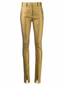 Victoria Beckham front split Tuxedo trousers - GOLD