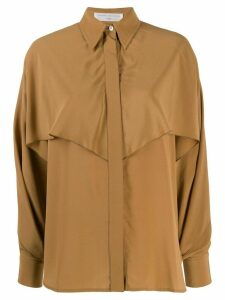 Victoria Beckham oversized drape shirt - Brown