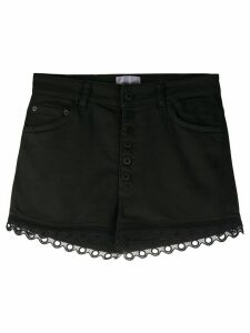 Dondup denim eyelet shorts - Black