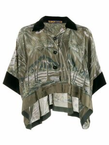 Sacai foliage-print loose-fit shirt - Green