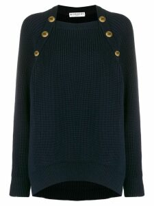 Givenchy oversized buttoned jumper - Blue