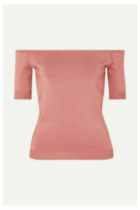 CASASOLA - Off-the-shoulder Stretch-knit Top - Blush