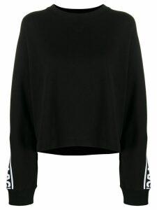 Karl Lagerfeld Rue St-Guillaume logo sweatshirt - Black