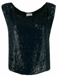 P.A.R.O.S.H. Gummy sequinned top - Blue