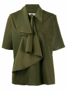Mm6 Maison Margiela ruffled shirt - Green