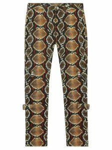 Burberry skinny fit python print jeans - Brown