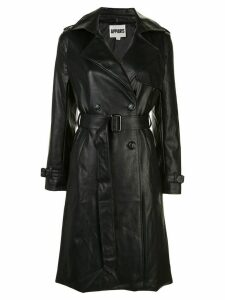 Apparis leather look trench coat - Black