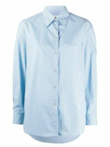 Mm6 Maison Margiela stitch detail striped shirt - Blue