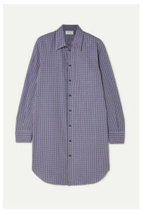 Maison Margiela - Oversized Checked Cotton-poplin Shirt - Blue