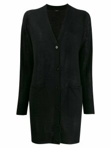 Joseph elongated cashmere cardigan - Black