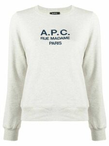 A.P.C. long sleeve logo sweater - Grey