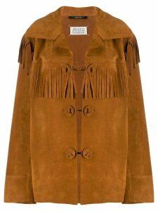 Maison Margiela suede fringed jacket - Brown