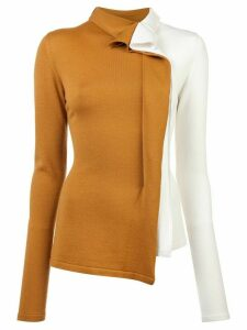 Monse patchwork bicolour blouse - MUSTARD/IVORY