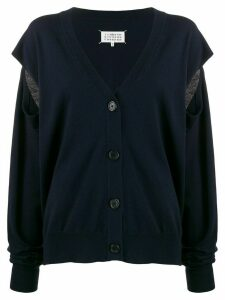 Maison Margiela slit sleeve cardigan - Blue