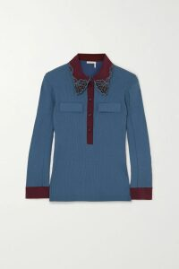 Off-White - Striped Denim Shirt - Blue