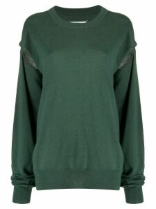 Maison Margiela slit sleeve jumper - Green