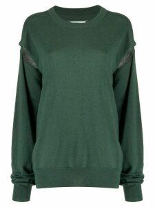 Maison Margiela slit sleeve jumper - Green