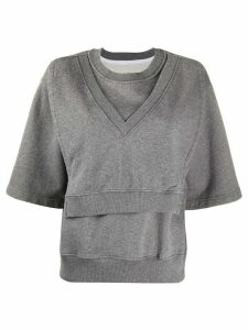 Mm6 Maison Margiela layered top - Grey