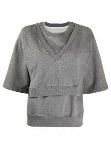 Mm6 Maison Margiela layered top - Grey