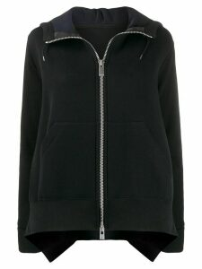 Sacai long sleeve zipped jumper - Black