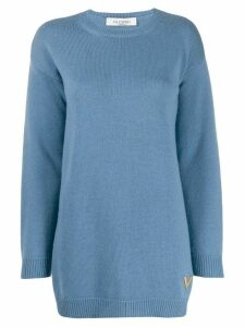Valentino VGOLD plaque jumper - Blue